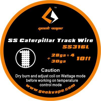 Geekvape - SS316 Caterpillar Track Draht 3m Edelstahl ZS06