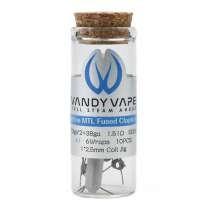 Vandy Vape - Prebuilt Ni80 Superfine MTL (Fused) Clapton Coil 1,65 Ohm P3