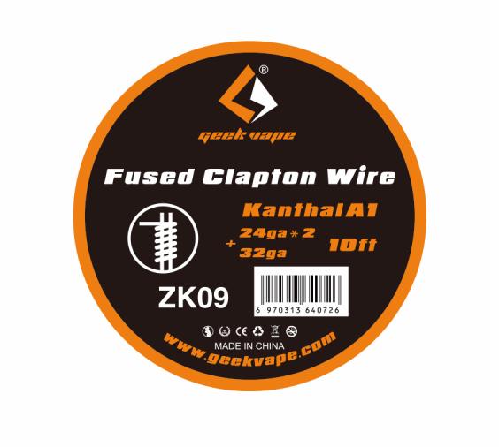 Geekvape - Fused Clapton Draht 3m Kanthal A1 24GA*2+32GA ZK09