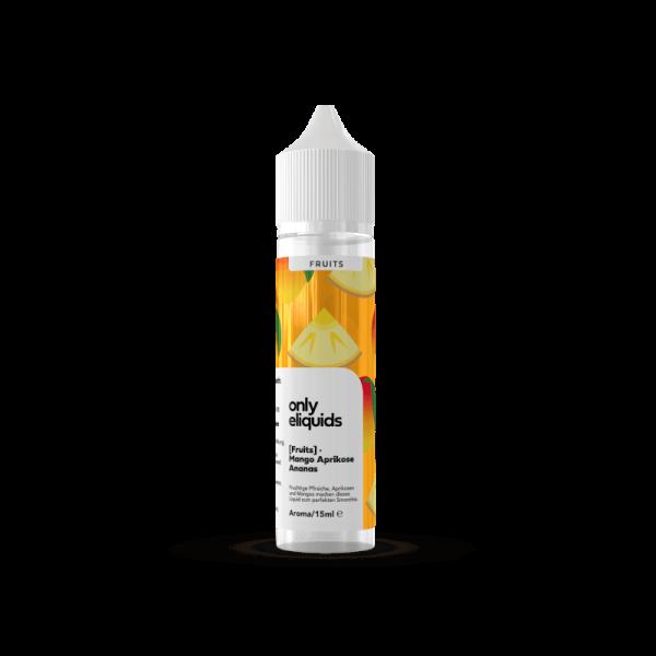 Only Fruits - Mango Ananas Aprikose 15ml Aroma