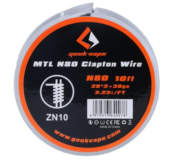 Geekvape - N80 Clapton Wire 28*2 + 38GA ZN10