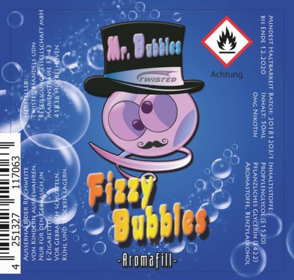 Twisted - Mr. Bubbles - Fizzy Bubbles 50ml (DIY Flavour-Konzentrat)