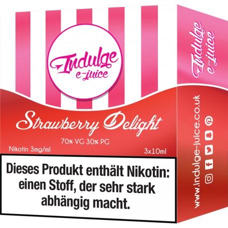 Indulge - Strawberry Delight 3x10ml Liquid (MHD 7/19)