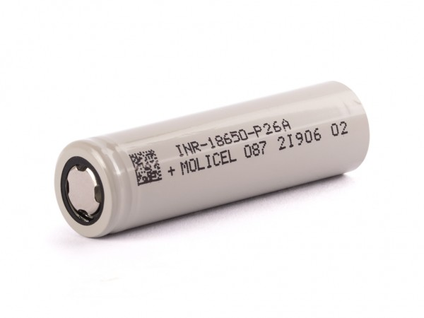 Molicel INR18650-P26A, 2600mAh 35A Li-Ionen-Akku