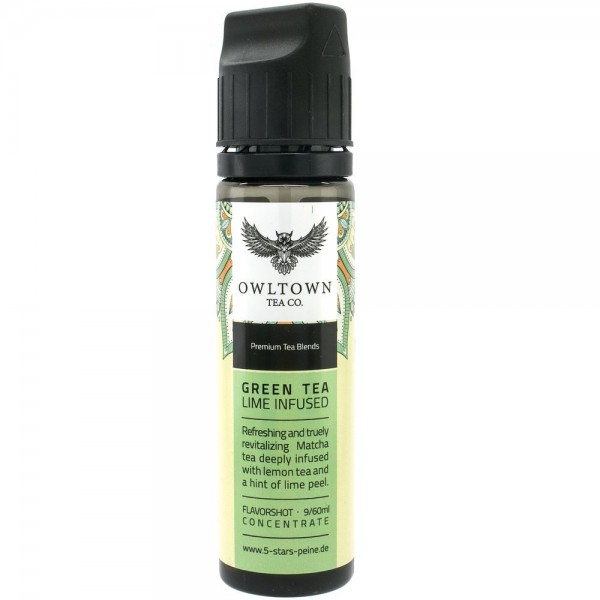 5 Stars Peine - Owltown Tea Co. - Green Tea Lime Infused 9ml Aroma Longfill