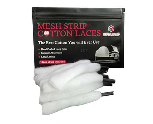 Steam Crave - M Stripe Cotton Laces Wickelwatte