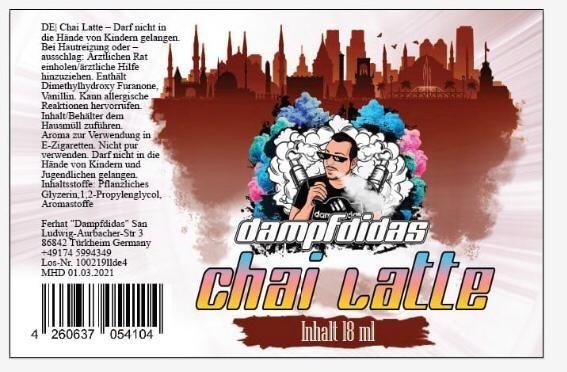 Dampfdidas - Chai-Latte 18ml Aroma Longfill MHD