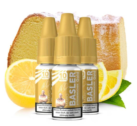 Mario Basler - Gold Zitronenkuchen 3x10ml Nikotinsalz