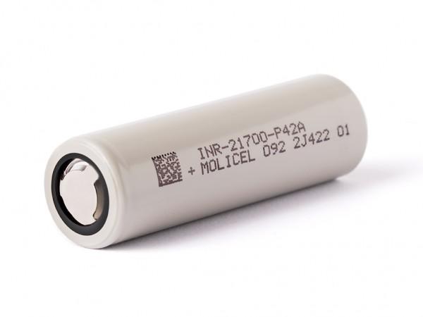 Molicel INR21700-P42A, 4200mAh 30A, Li-Ionen-Akku