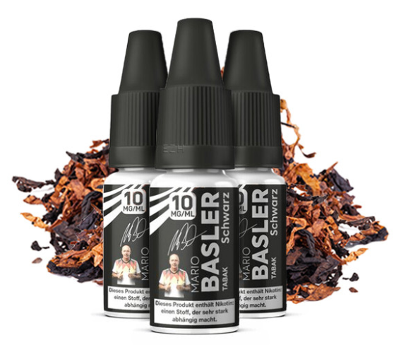 Mario Basler - Schwarz Tabak 3x10ml Nikotinsalz Liquid