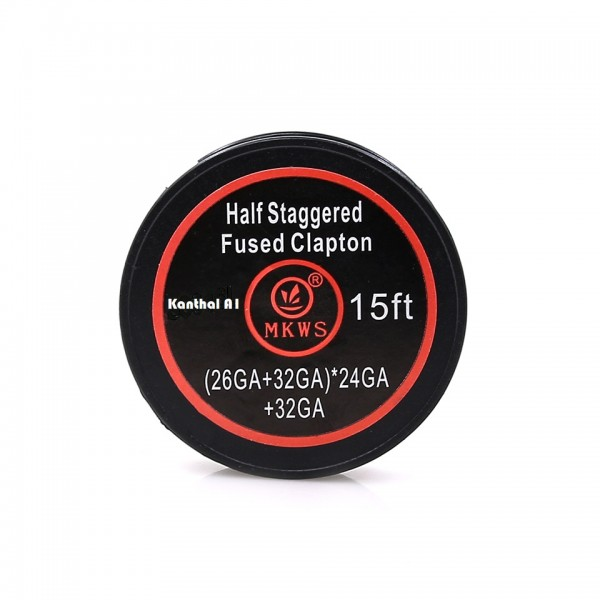 Half Staggered Fused Clapton - Kanthal A1 - (26GA+32GA)*24Ga+32GA - 15ft