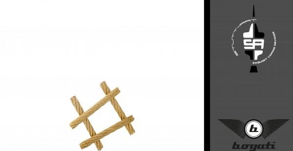 Bogati - Edelstahldochte 7x7 - 24K Vergoldet