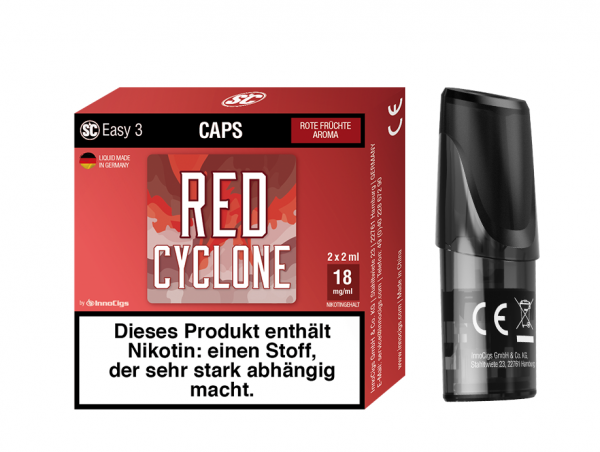 InnoCigs - Easy 3 Caps Red Cyclone ( 2er Pack )