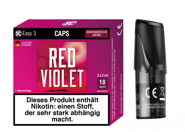 InnoCigs - Easy 3 Caps Red Violet ( 2er Pack )