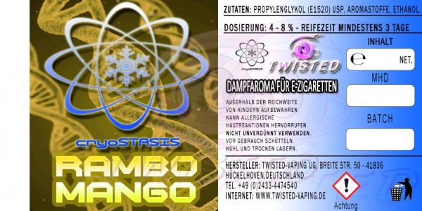 Cryostasis - Rambo Mango 10ml Aroma