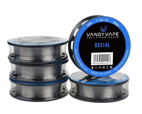Vandy Vape 3 Meter SS316L Superfine MTL Fused Clapton Wire 30GA*2/38GA Wickeldraht