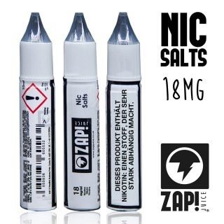 ZAP! Juice - Nic Salts Shots - 18 mg/ml