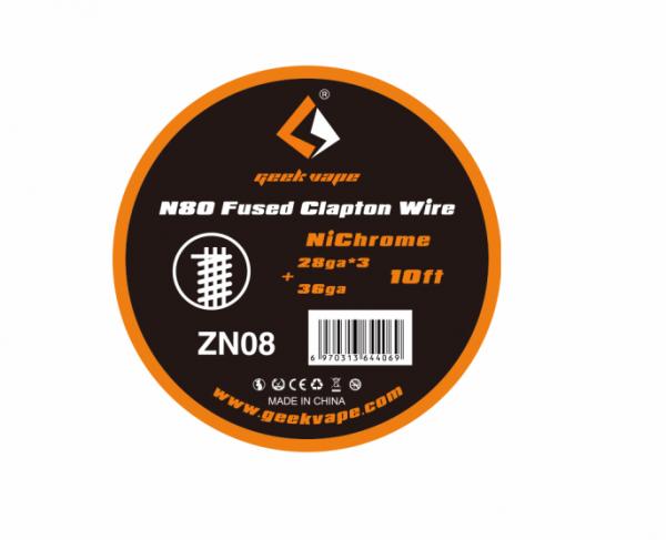 Geekvape - Fused Clapton Draht 3m N80 28GA*3+36GA ZN08