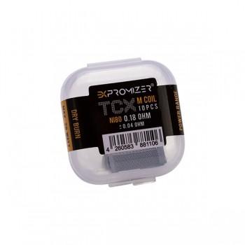 eXvape - Expromizer TCX 0,18 Ohm Ni80 Drahtgeflecht 10 Stk.