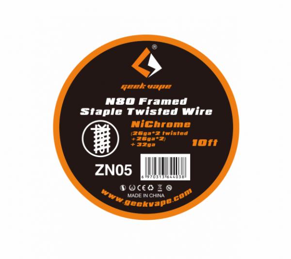 Geekvape - Framed Staple Twisted Draht 3m N80 ZN05