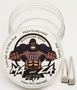 Maza Handmade Coils - MiniBombaz ca 0.14 Ohm Dual