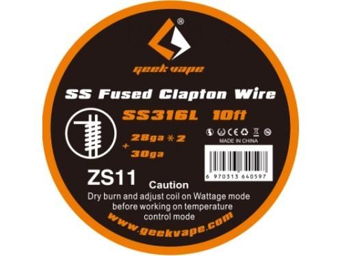 Geekvape - SS316 Fused Clapton Wire 28ga*2+30ga ZS11