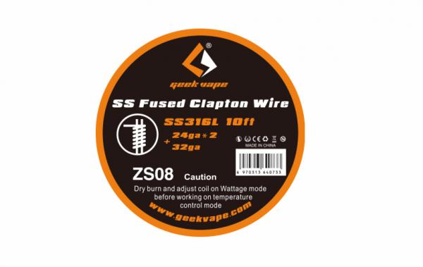 Geekvape - SS316 Fused Clapton Draht 3m Edelstahl 24GA*2+32GA ZS08