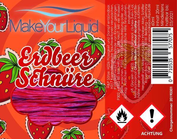 MakeYourLiquid - Erdbeerschnüre 20ml Aroma