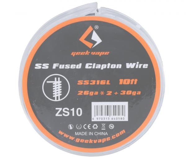 Geekvape - SS316 Fused Clapton Wire 26ga*2+30ga ZS10