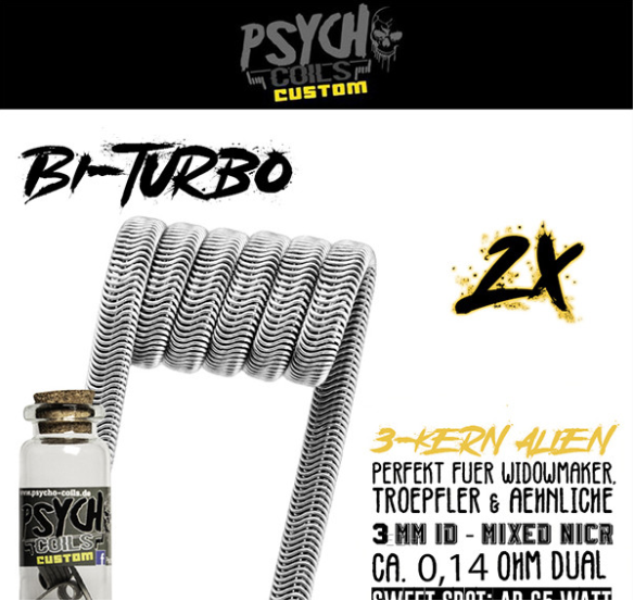 Psycho Coils - Psycho-Bi-Turbo Alien 0,28ohm