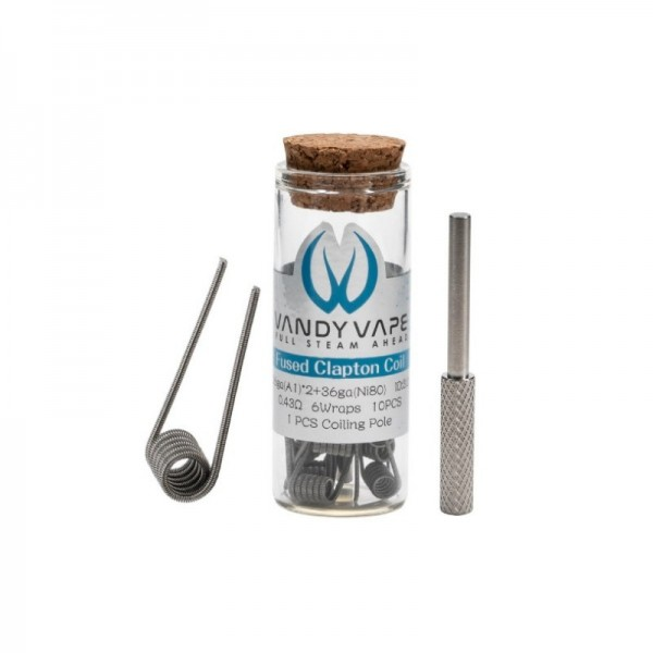 Vandy Vape - Prebuilt A1 NI80 Fused Clapton Coil 0,43 Ohm P14